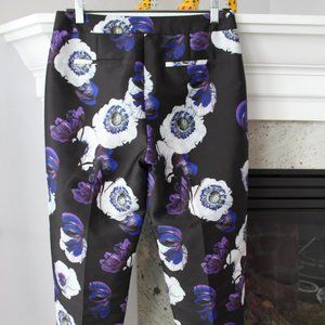 J Crew New Floral Cropped Tapered Capri Pants 4